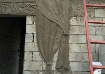 Vorhang aus Zement